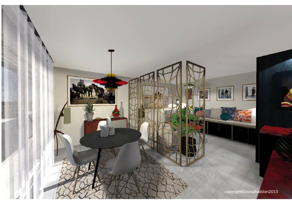 Salle à manger: Salle à manger de style  par Sonia HADDON Interior Designer