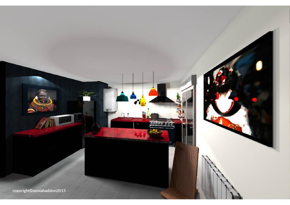 Cuisine: Cuisine de style de style Moderne par Sonia HADDON Interior Designer