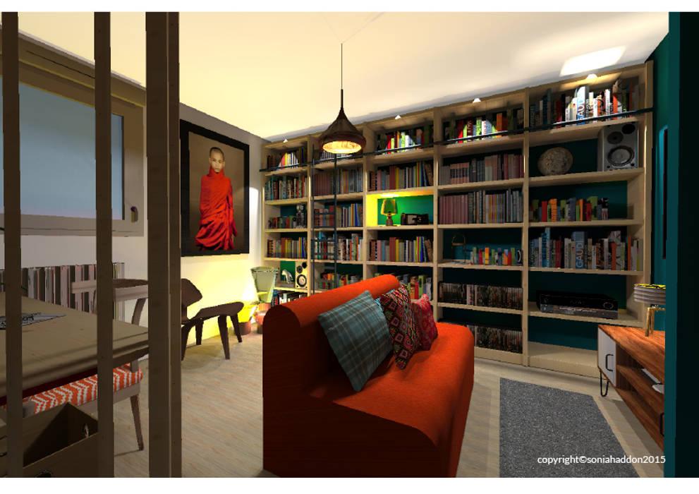 BUREAU: Bureau de style de style Moderne par Sonia HADDON Interior Designer