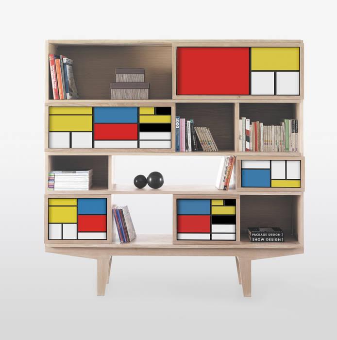 Bibliothèque FACE TO FACE MONDRIAN par FAIRSENS Moderne