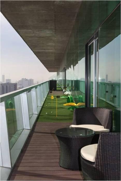 Área de descanso Balcones y terrazas modernos de homify Moderno