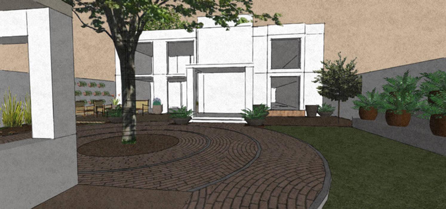 Paisaje Residencial Santa Engracia Jardines modernos de Arq. Claudia Gonzalez Moderno