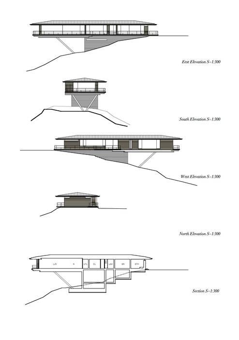 Elevation/Section モダンな 家 の 城戸崎建築研究室 / KIDOSAKI ARCHITECTS STUDIO モダン