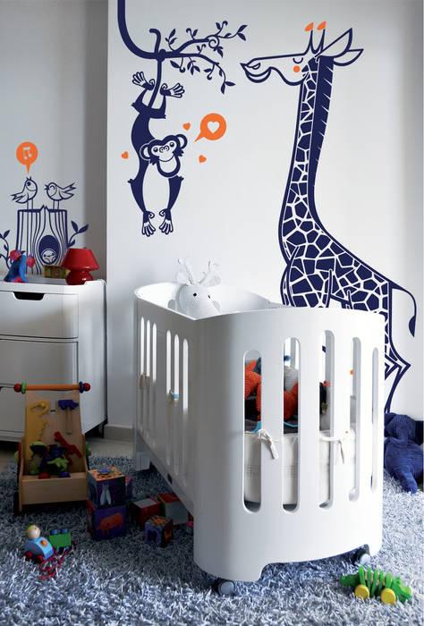 stickers enfants : kit savane: Chambre d'enfants de style  par E-GLUE - Stickers Muraux et Papier-Peints Enfants