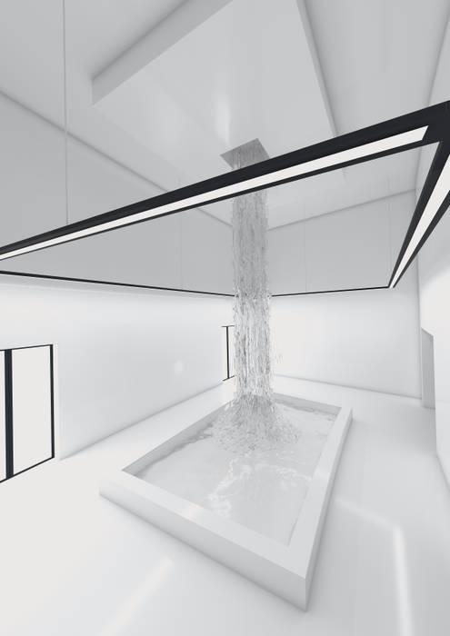 HALL TOILETTE Hotel in stile minimalista di FRANCESCO GENNARO Interior Design Minimalista