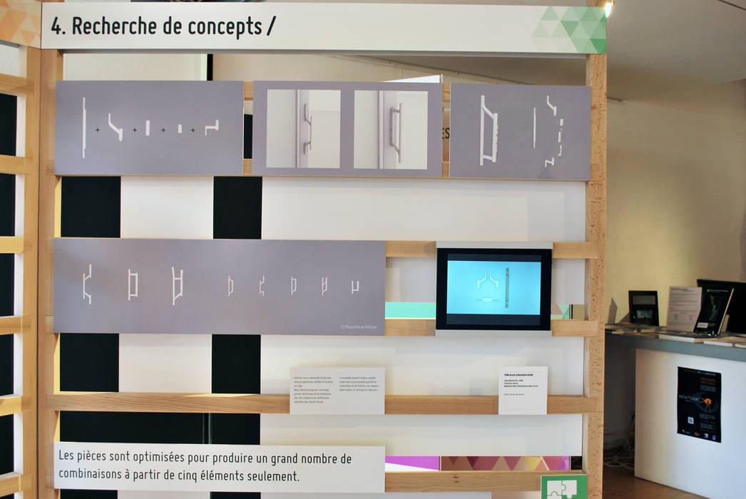 Design: l'exp(l)osition, scénographie:  de style  par Mbd, Moderne