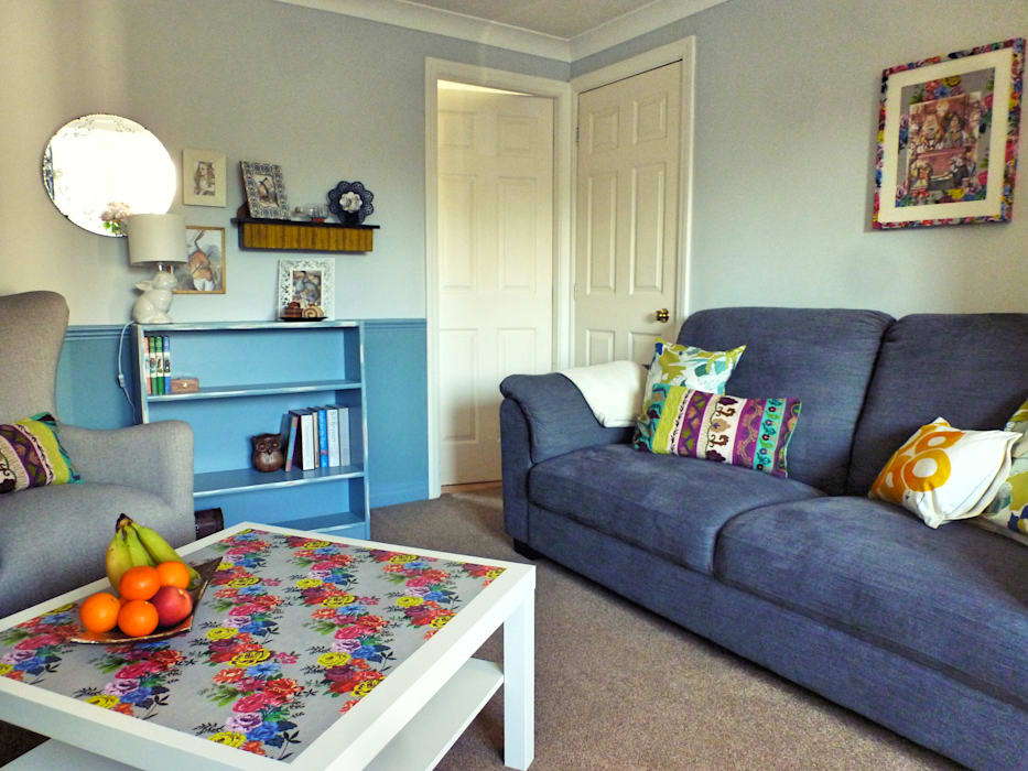 Living Room, Leeds Eclectic style living room by Crow's Nest Interiors Eclectic