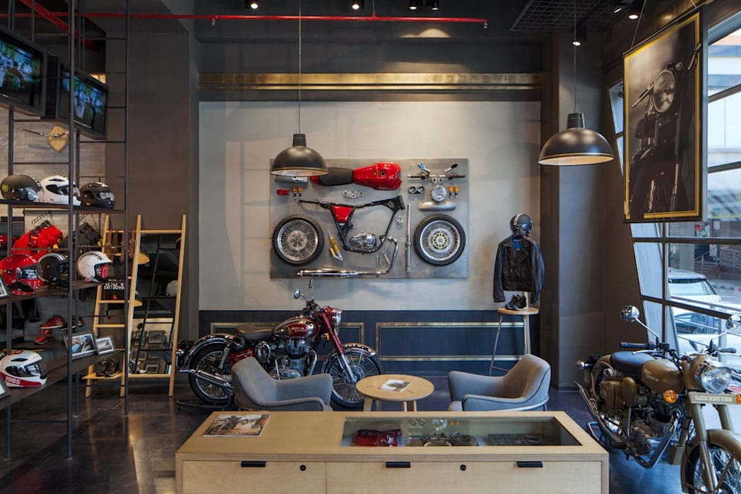 Royal Enfield :  Commercial Spaces by Studio Lotus,