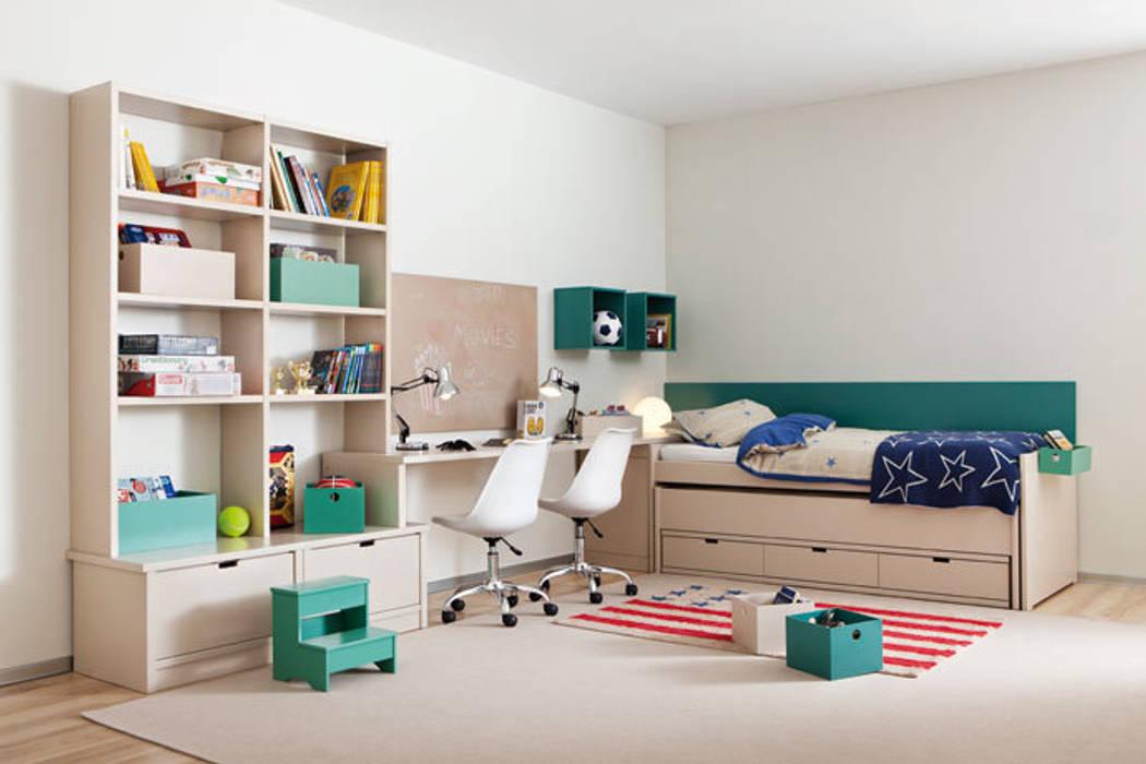 Dormitorio compartido juvenil: Dormitorios infantiles de estilo moderno de Sofás Camas Cruces
