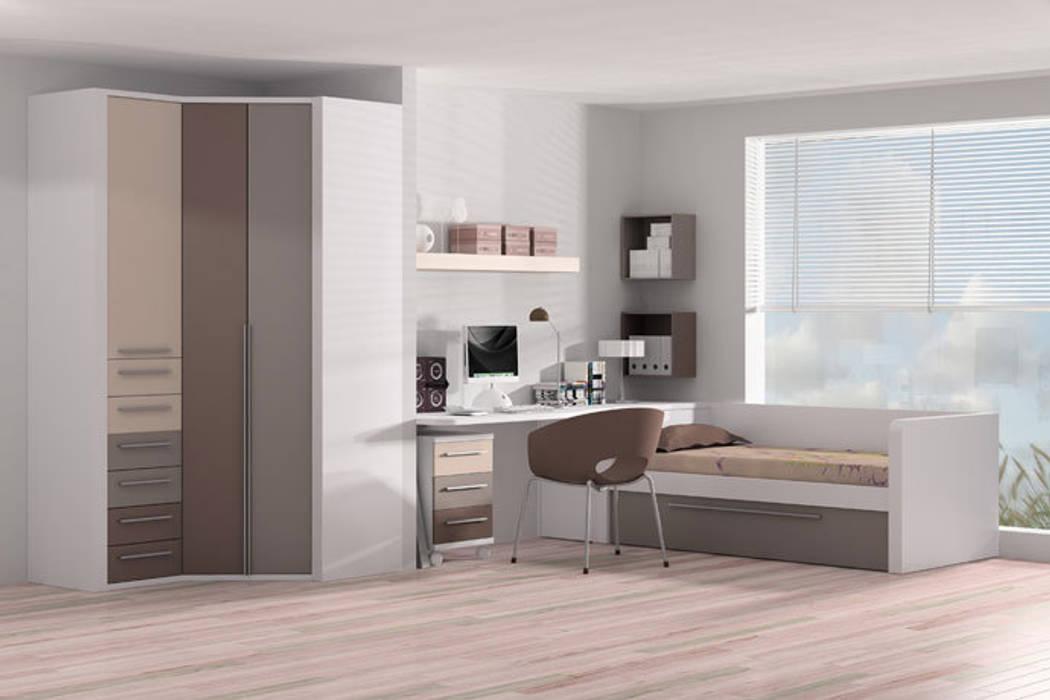 Cama nido con somier extraíble y frisos : Dormitorios infantiles de estilo moderno de Sofás Camas Cruces