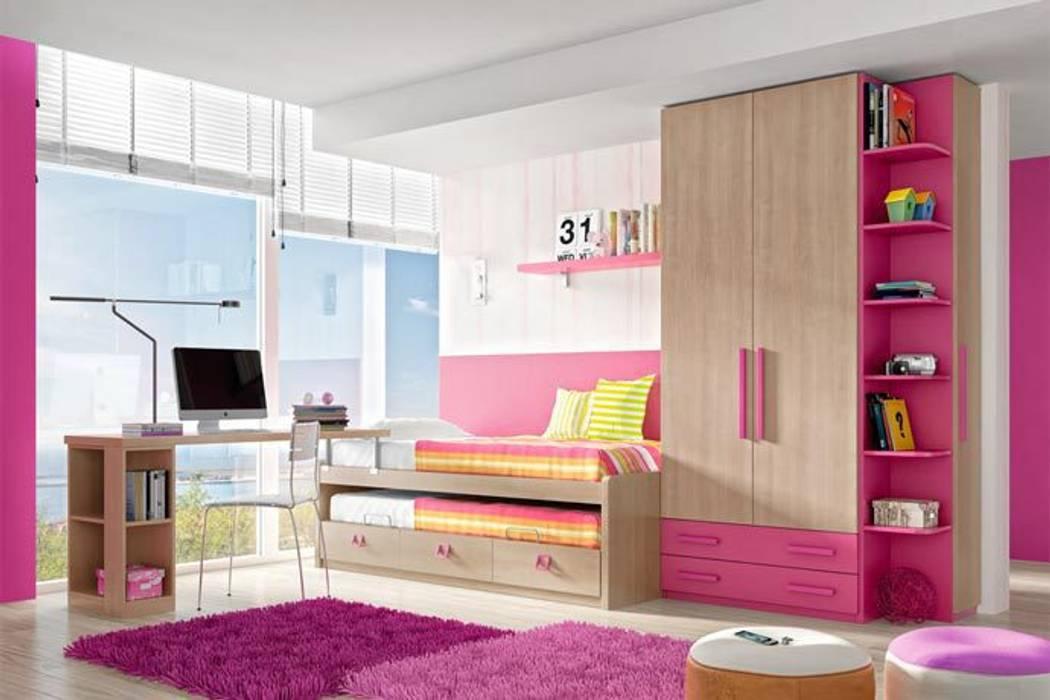 Cuarto para ni as de estilo por sof s camas cruces homify - Sofas para habitacion ...