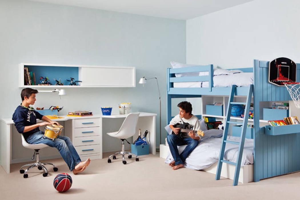 Litera loft para dormitorios juveniles de Sofás Camas Cruces Moderno