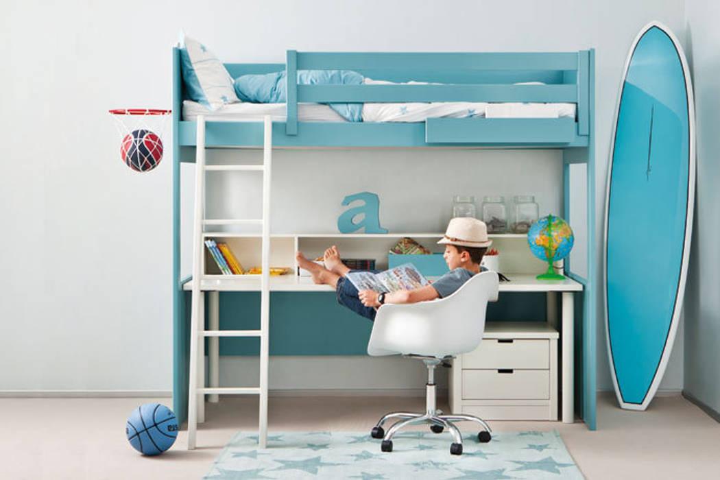 Litera Loft Con Mesa De Escritorio Integrada Habitaciones De Niños