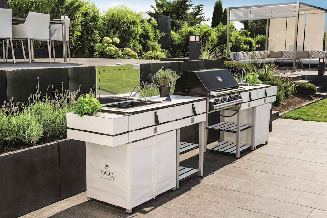 Outdoor Küche Dachterrasse : Modulare outdoorküche white: balkon veranda & terrasse von ocq