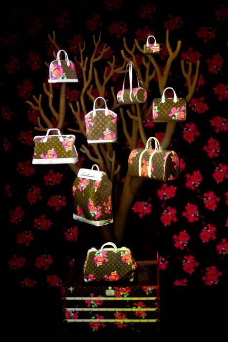 """Soline d'Aboville, Installation """" Les Sacs de ville Louis Vuitton: une histoire naturelle """", Maison Louis Vuitton des Champs Elysées, Paris 2013 par Soline d'Aboville"""