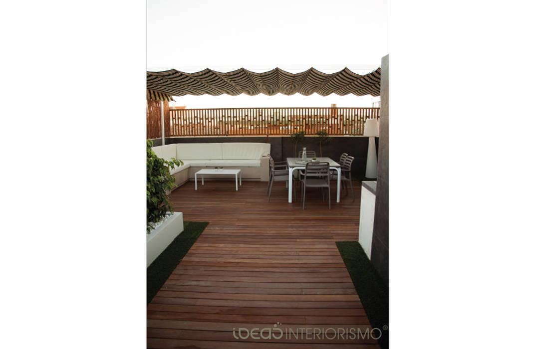Reforma terraza en Catarroja Balcones y terrazas de estilo moderno de Ideas Interiorismo Exclusivo, SLU Moderno