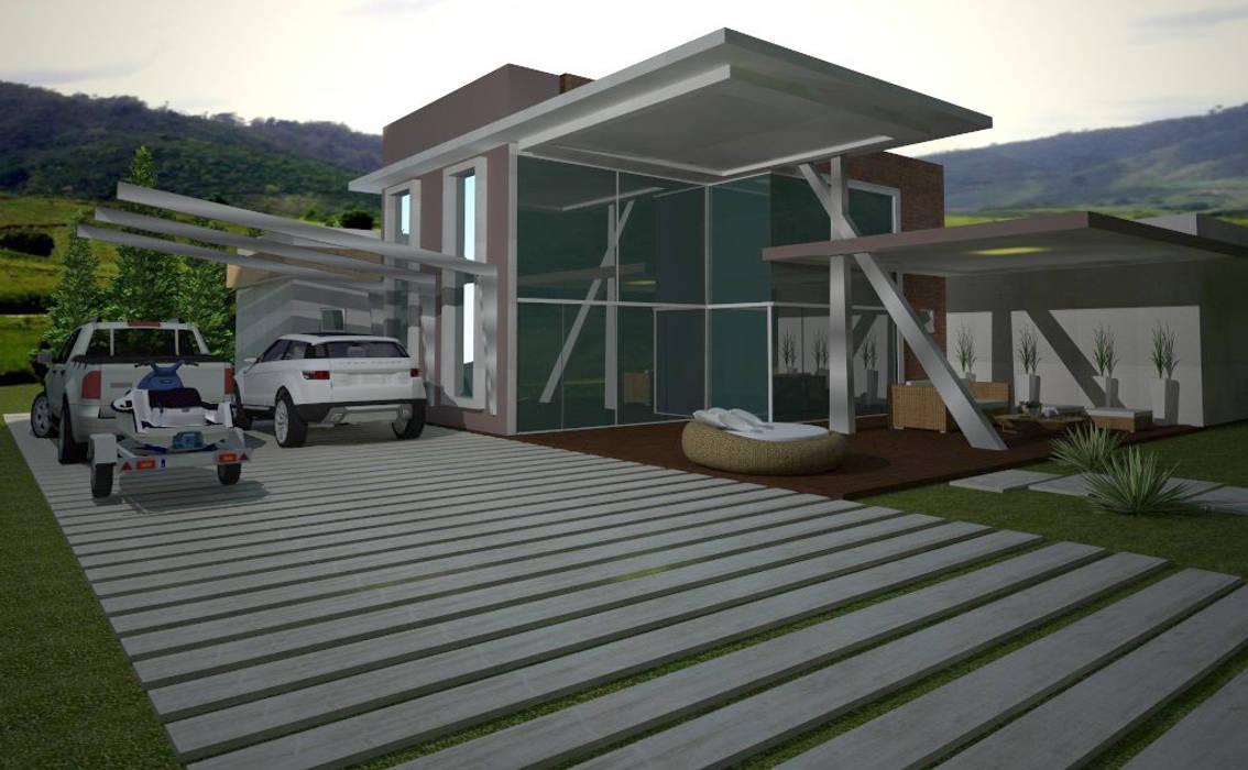 Projeto residencial:   por Deborah Iachinski Arquitetura & Interiores