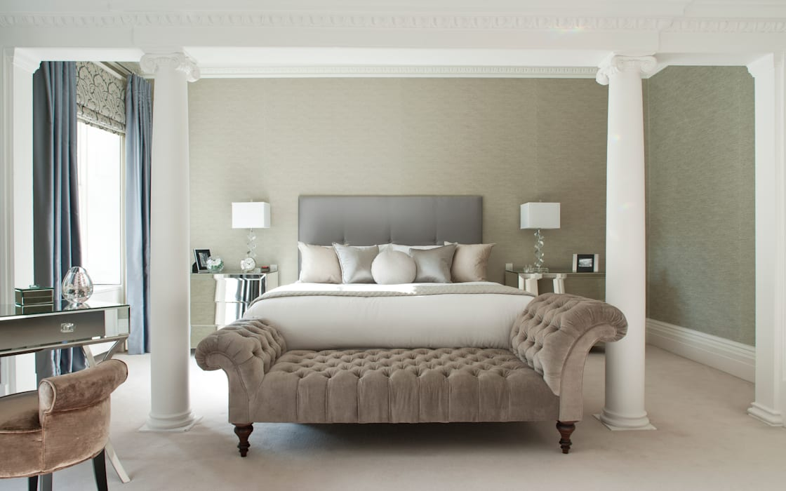 Master Bedroom:  Bedroom by Roselind Wilson Design