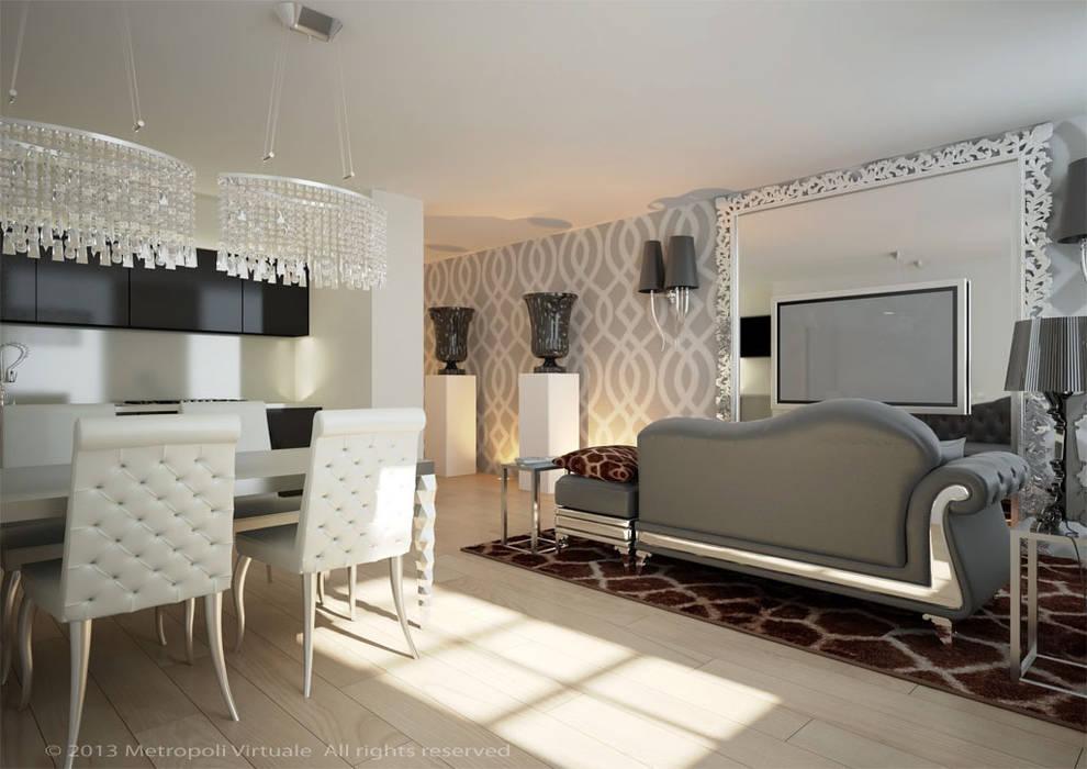 Residenza a Ferrara: Soggiorno in stile  di Atelièr di progettazione