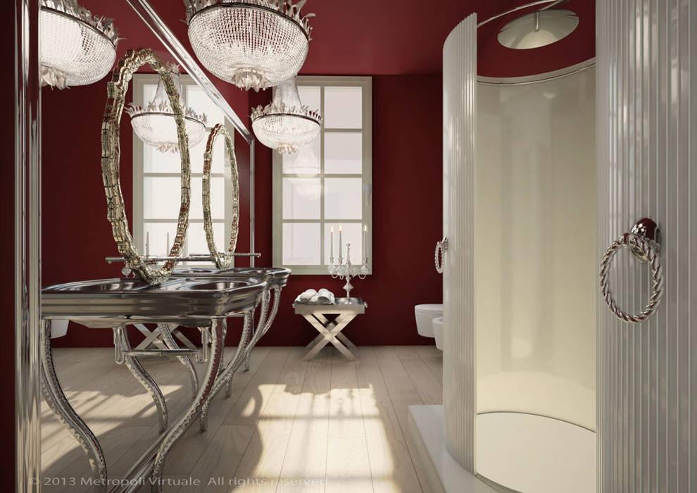 Residenza a Ferrara: Bagno in stile in stile Eclettico di Atelièr di progettazione