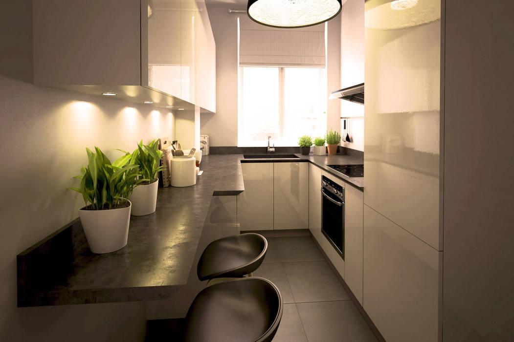 cuisine noir et blanc: Cuisine de style  par Agence KP