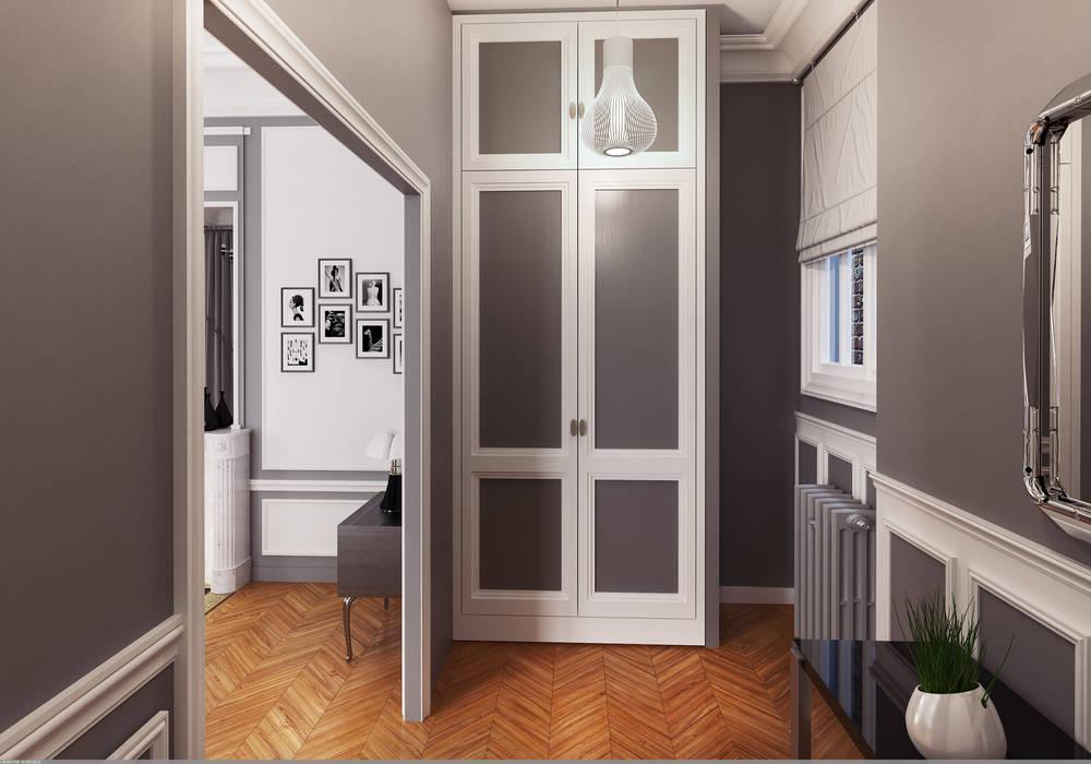 placard d'entree: Couloir et hall d'entrée de style  par Agence KP