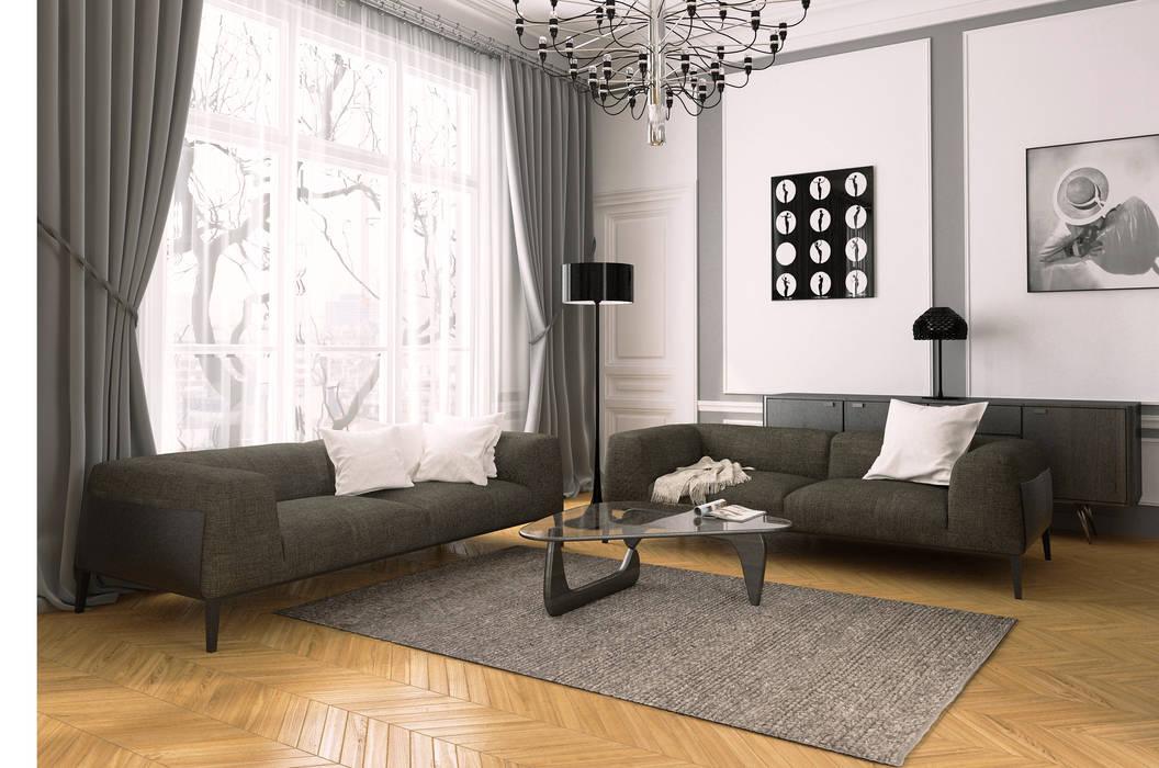 salon haussmanien Salon classique par Agence KP Classique Bois Effet bois