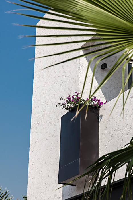 Detalles Fachada Jardines modernos de ARQUIPLAN Moderno