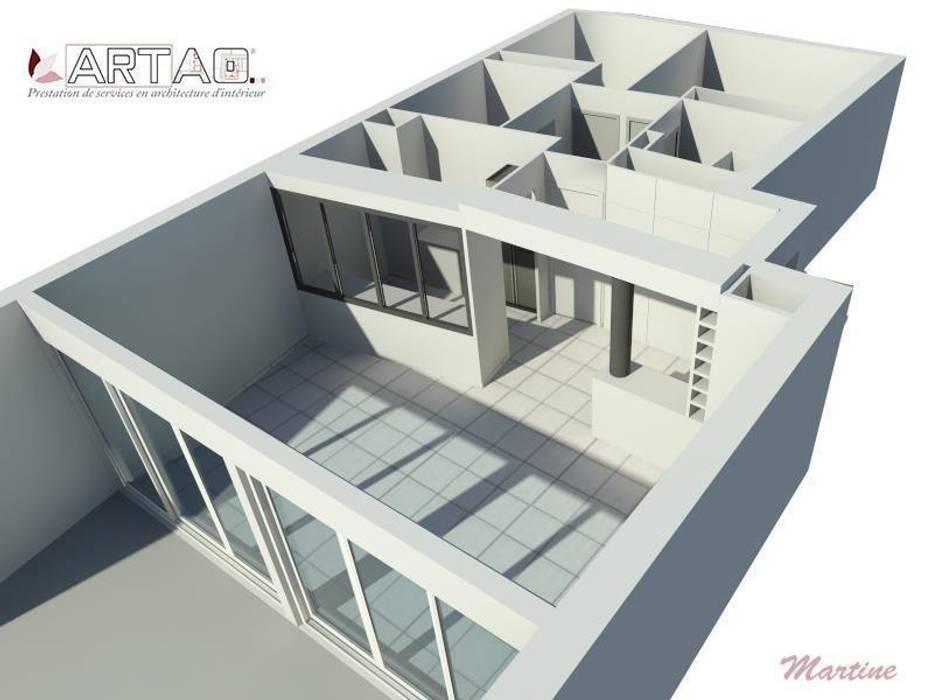 Vue 3D Salle à manger classique par Artao Classique