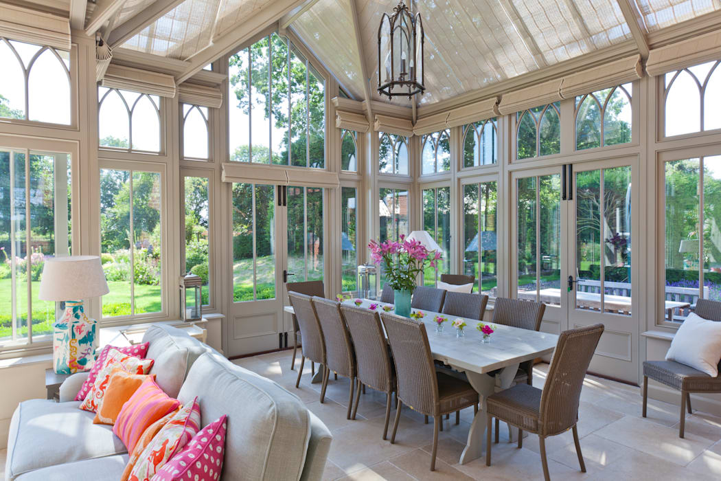 Complex Conservatory on Victorian Rectory Eclectic style conservatory by Vale Garden Houses Eclectic
