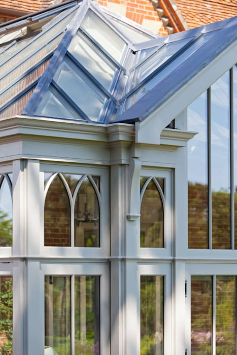 Complex Conservatory on Victorian Rectory: eclectic Conservatory by Vale Garden Houses