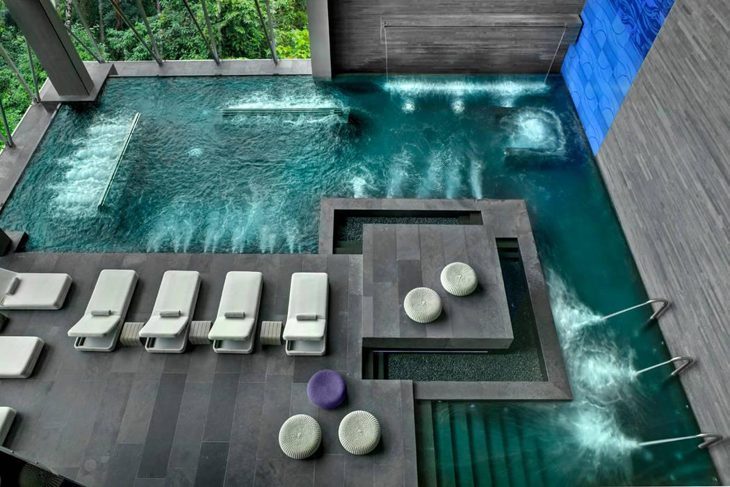 Therma Spa by Vidalta: Spa de estilo  por Serrano Monjaraz Arquitectos, Moderno