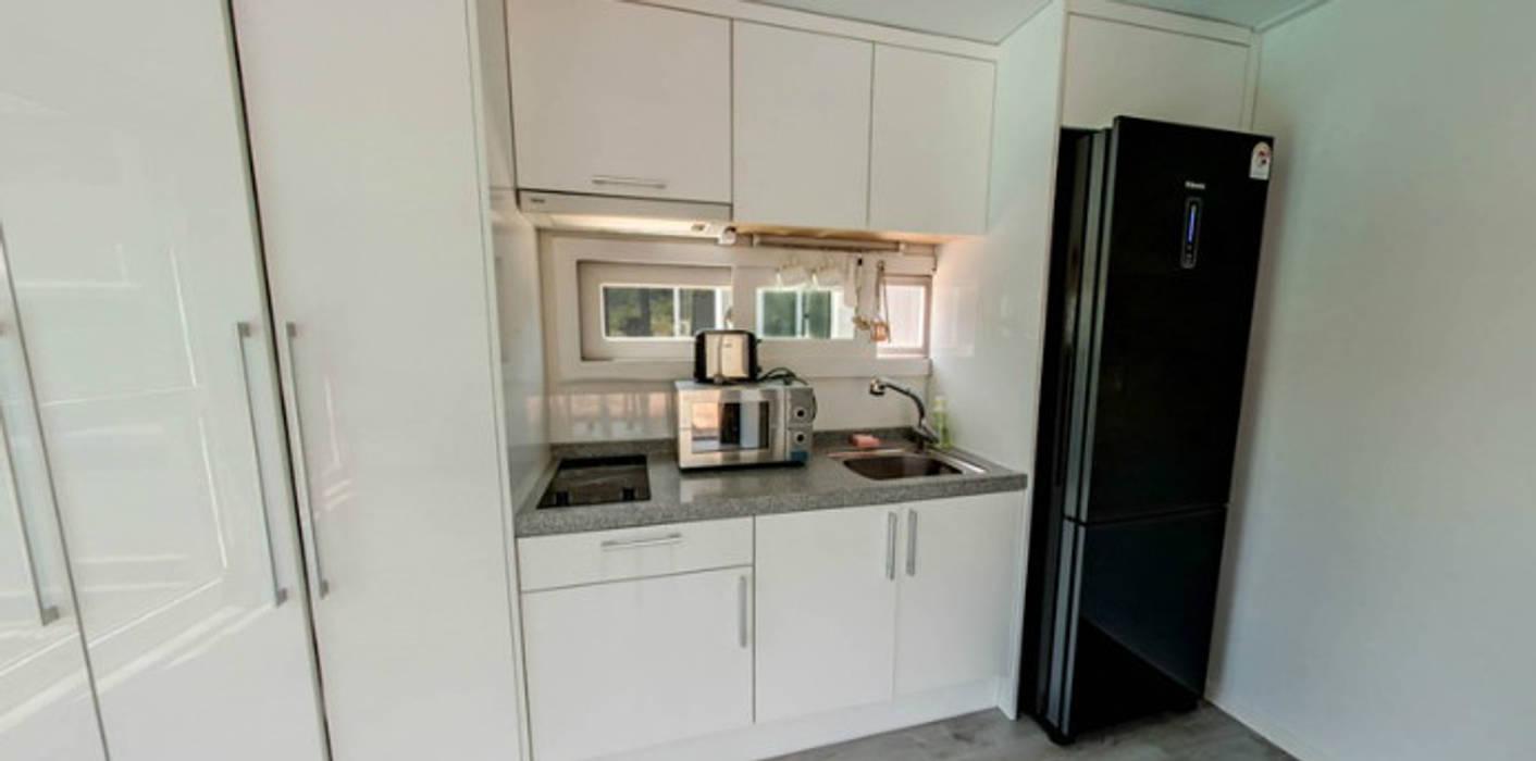 큐브디자인 건축사사무소 現代廚房設計點子、靈感&圖片