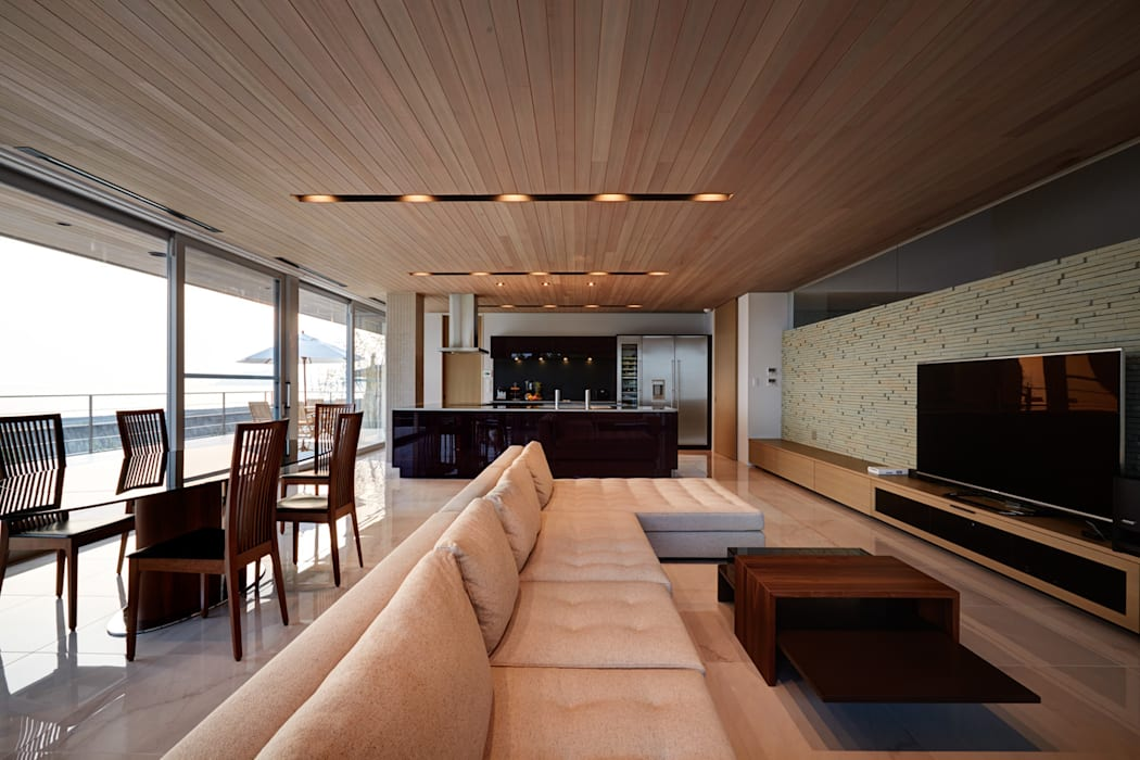 modern living room by 株式会社スタジオパートスリー homify