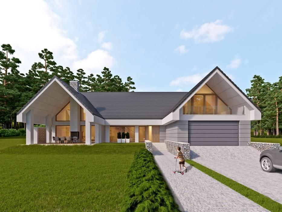 LK&1172 Nowoczesne domy od LK & Projekt Sp. z o.o. Nowoczesny