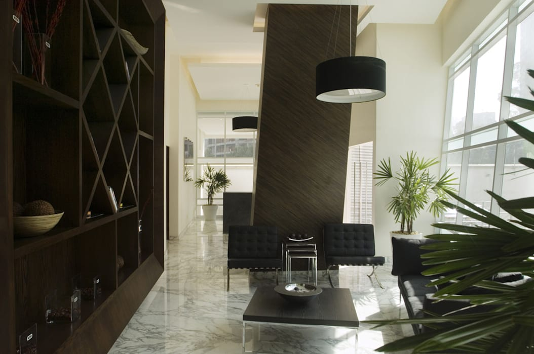 Skyview Polanco: Salas de estilo  por ARCO Arquitectura Contemporánea ,