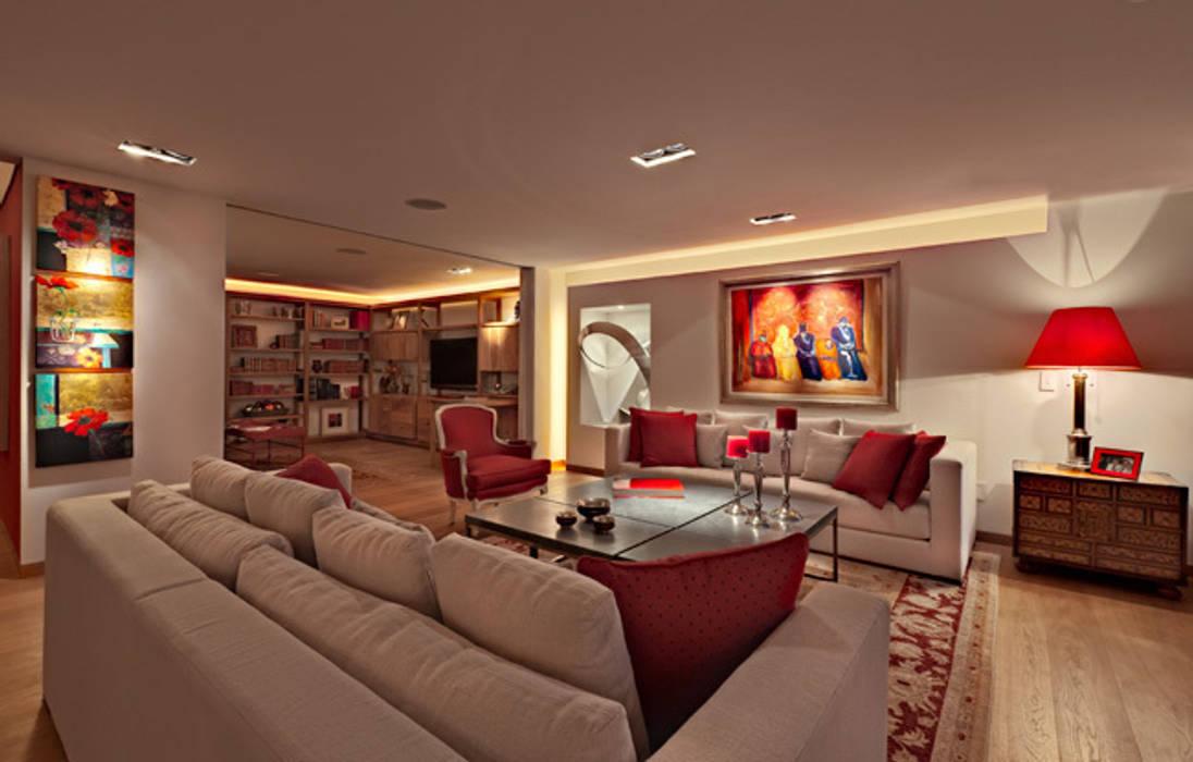 Departamento Polanco 1: Salas de estilo  por Lopez Duplan Arquitectos, Moderno