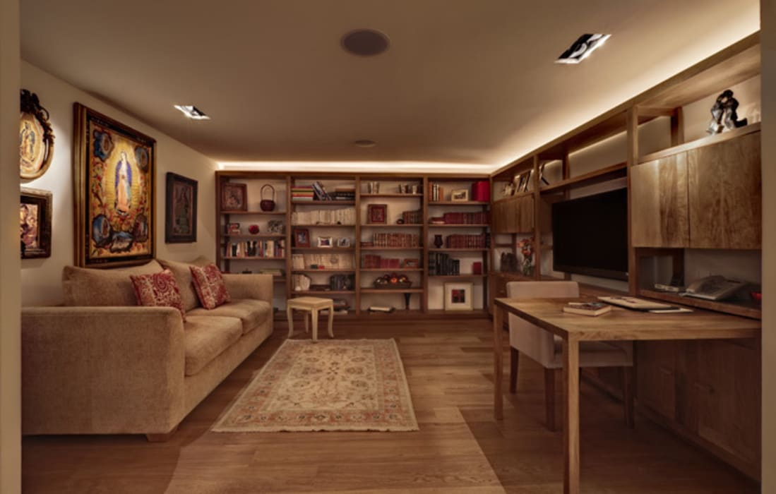 modern Media room by Lopez Duplan Arquitectos