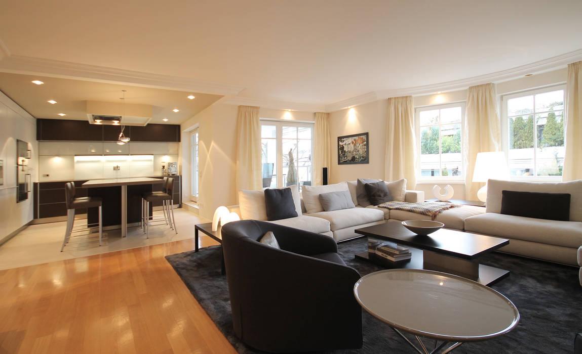 Offene wohnküche: moderne wohnzimmer von eswerderaum | homify