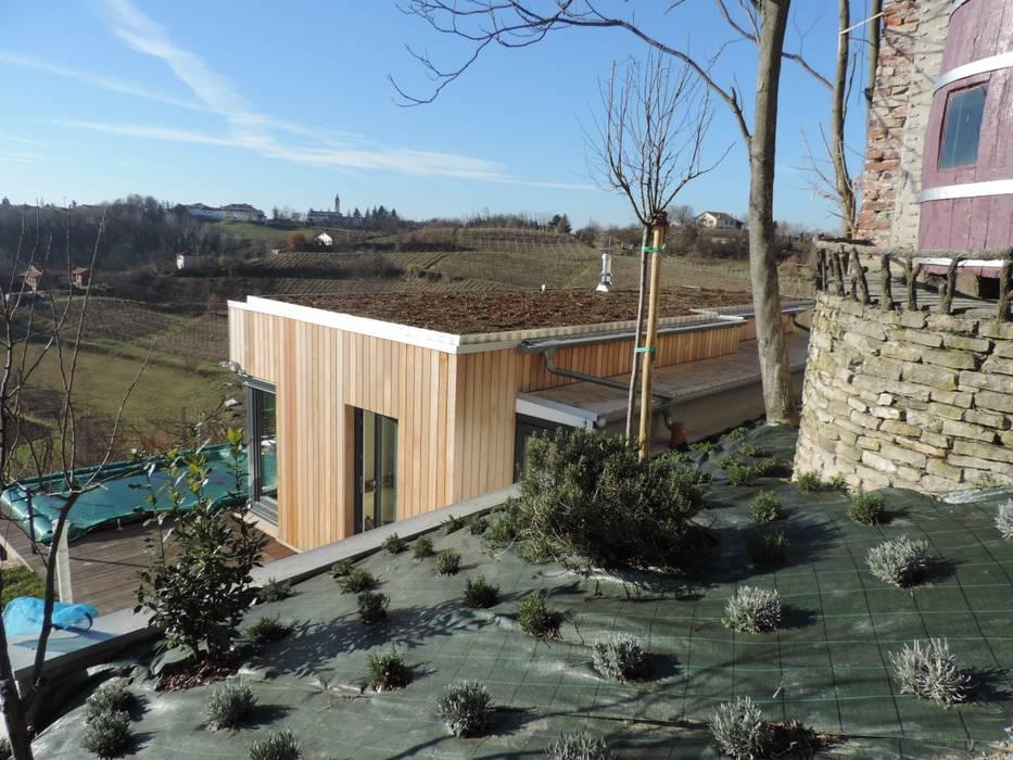 Residenza in Monferrato Case in stile minimalista di Ecospace Italia srl Minimalista