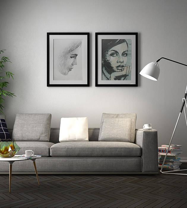 v03_soggiorno Soggiorno moderno di Studiod3sign Moderno