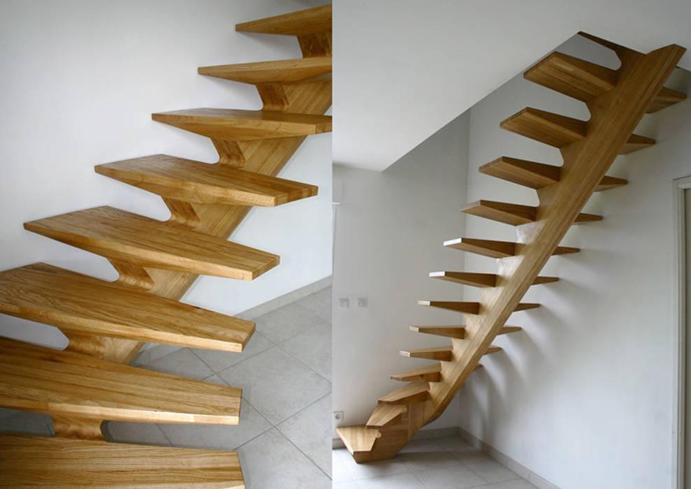 escalier: Maisons de style de style Moderne par Atelier Christophe Bret / Ebéniste Designer