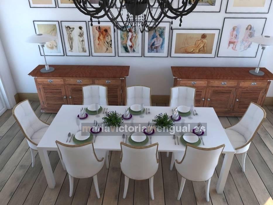 Zona de comedor: Casas de estilo  de MUMARQ ARQUITECTURA E INTERIORISMO