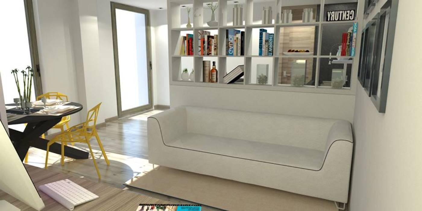 Intervento di Home Staging virtuale il soggiorno: Soggiorno in stile in stile Moderno di ArchitetturaIN