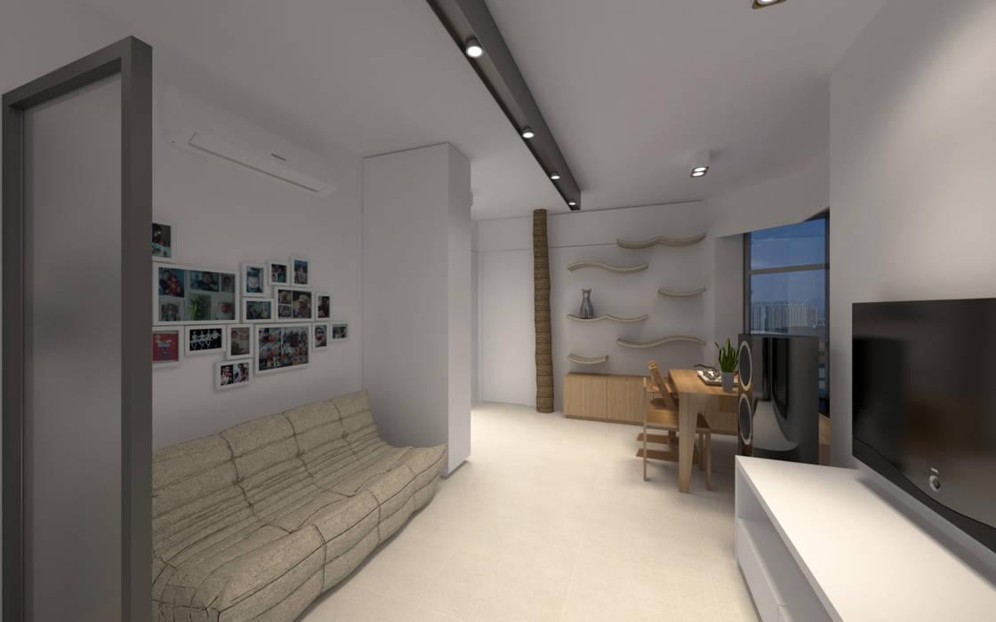 LT's RESIDENCE Minimalist living room by arctitudesign Minimalist