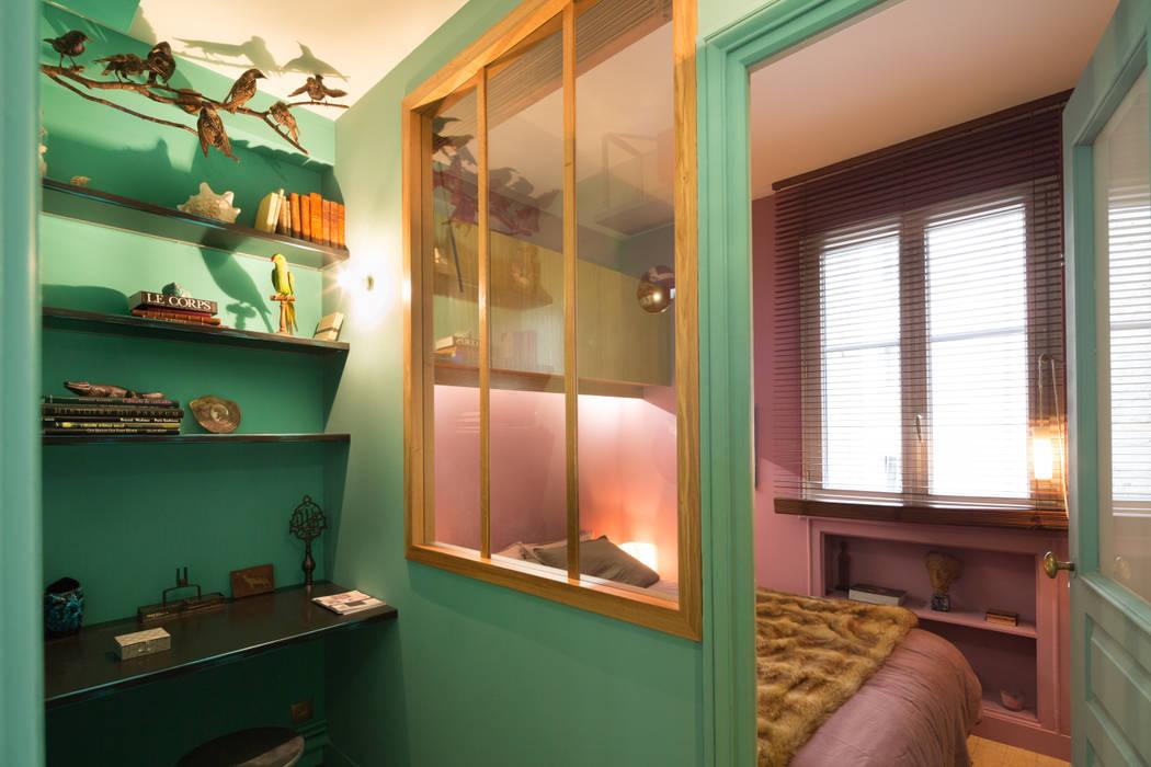 Appartement plume de paon par Agence d'architecture intérieure Laurence Faure Moderne