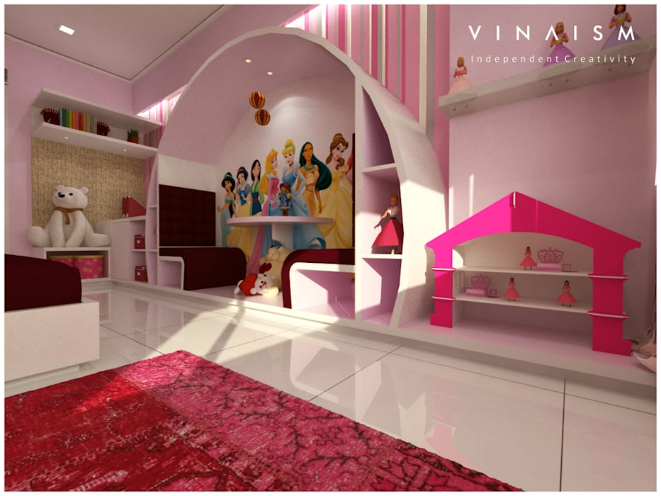 pink and white Rooms by V I N A I S M