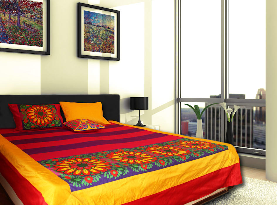 modern  by homify, Modern Cotton Red