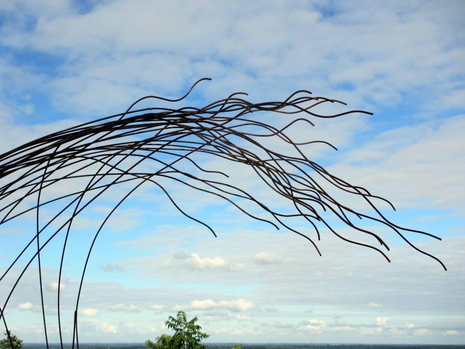 Grande Vague Piscine moderne par Artiste Sculpteur Moderne