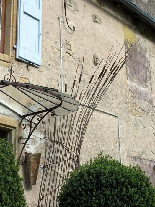 Gerbe de Blé Balcon, Veranda & Terrasse modernes par Artiste Sculpteur Moderne